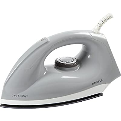 Havells Oro Heritage 1000-Watt Dry Iron (Grey and White)