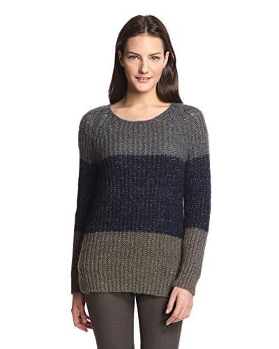 Gerard Darel Women's Colorblock Sweater  [Grey]