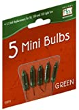 Holiday Wonderland 1115-7-88 2.5V Green Replacement Bulb Christmas Bulbs Miniature Replacement