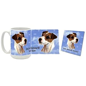 Jack Russell Terrier Mug and Coaster Gift Box