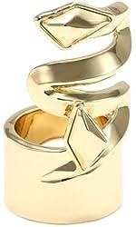 Belle Noel Faceted Metal Stone Finger Ring, Size 7