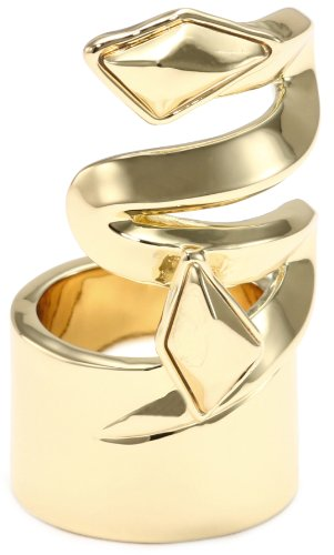 Belle Noel Faceted Metal Stone Finger Ring, Size 6