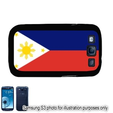 Philippines Filipino Pilipinas Flag Samsung Galaxy S3 i9300 Case Cover Skin Black