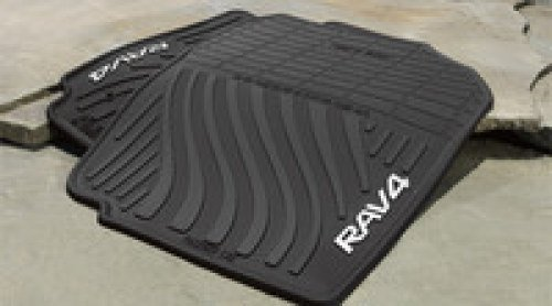 Genuine Toyota All-Weather Floor Mats for 2007-2012 Toyota Rav4-Set of 4, New, OEM, by Toyota (Car Mats Rav4 compare prices)