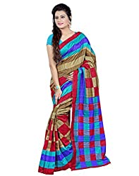SareeShop Women's Saree with Blouse Piece Saree (Bhagalpuri20904_MultiColored _Free Size)