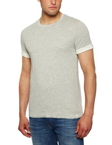 Lee Double Face Plain Men's T-Shirt Grey Mele XX Large