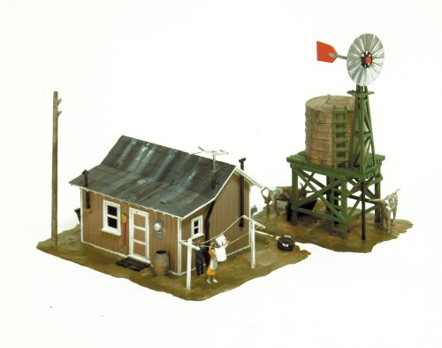 Life-Like Trains  HO Scale Building Kits - Western Homestead (Ho Model Train Building Kits compare prices)