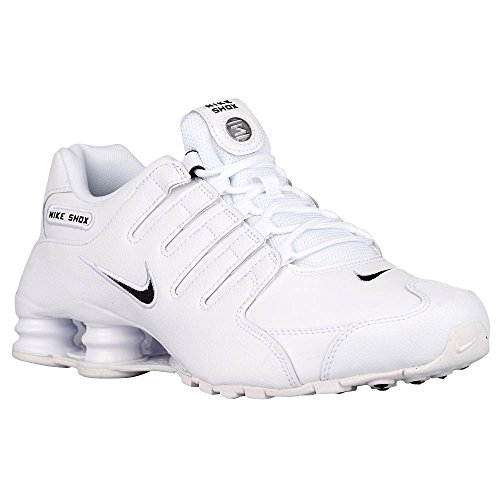 Nike Men's Shox NZ EU White/Black/White Leather Running Shoes 6.5 M US (Classic Nike Shox compare prices)