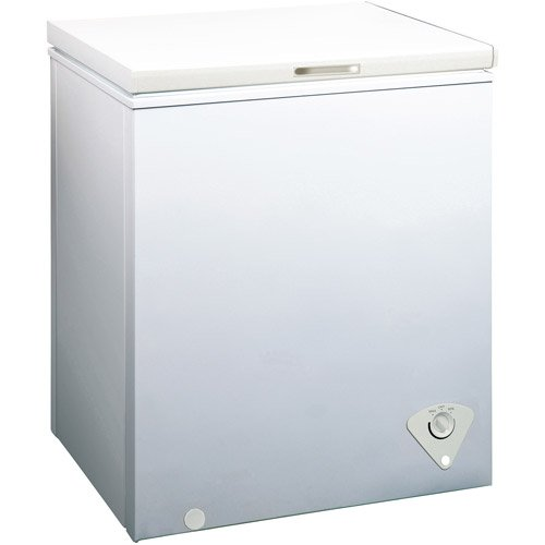 midea WHS-185C Single Door Chest Freezer, 5.0 Cubic Feet, White