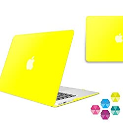 Neon Party (TM) Series iBenzer Smooth Finish Plastic Hard Case Cover for Macbook Air 13'' inch A1369 / A1466, Lime MAN13LM