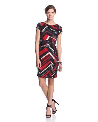 Ellen Tracy Women's Cap Sleeve Print Dress