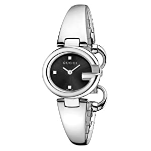 Gucci Guccissima Collection Women's Quartz Watch with Black Dial Analogue Display and Stainless Steel Bangle YA134501