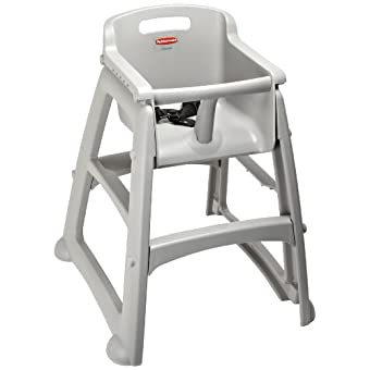 Rubbermaid Commercial FG781400 Platinum Sturdy Chair Youth Seat without Wheels, 23.5 Length, 23.5 Width, 29.75 Height