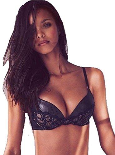 victorias-secret-push-up-faux-leather-lace-bra-32d-black-nude