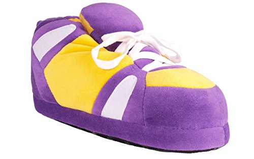 Happy Feet - Purple, Yellow and White - Slippers - XL (Comfy Feet Slippers Minnesota compare prices)