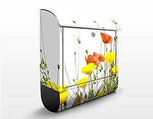 WTD 47062 Design Briefkasten Wild Flowers 39 x 46 x 13 cm   Kundenbewertung und Beschreibung