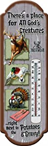 River%27s+Edge Rivers Edge Products All Gods Creatures Tin Thermometer