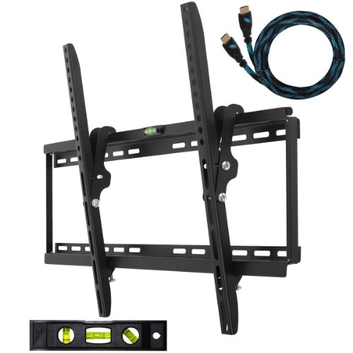 Cyber Monday Cheetah Mounts APTMM2B Flat Screen TV Wall Mount Bracket, uses Universal Tilt Mount 32-55
