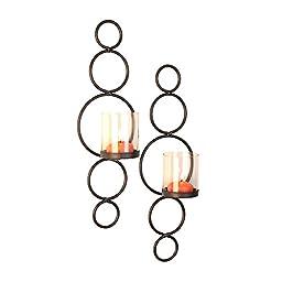 Danya B Elegance Dots Wall Candle Holders - Set of 2