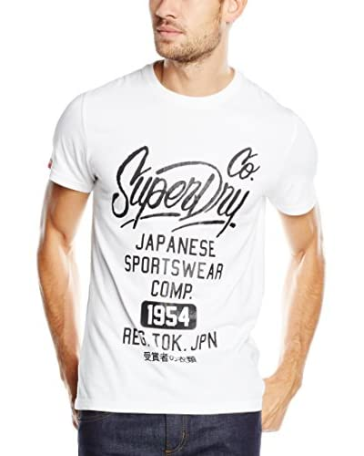 Superdry T-Shirt Manica Corta Comp Entry [Bianco Ottico]