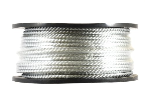 Forney 70447 Wire Rope, Galvanized Aircraft Cable, 250-Feet-by-3/16-Inch