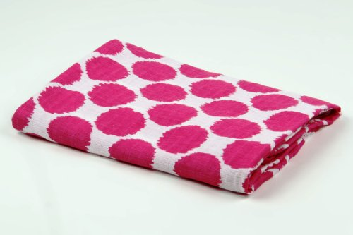 Ikat Pink Dots 2 pc Muslin Crib Sheets