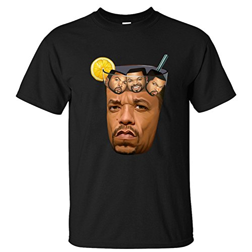 Men's Top Ice Cube Got Tea Soft Cotton Short Sleeve T-Shirt black L (Got Ice compare prices)