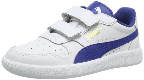 Puma Unisex - Child Icra Trainer V Kids Low White Weià (white-monaco blue-team gold 02) Size: 33