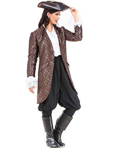 Angelica Brocade Privateer Pirate Renaissance Medieval Womens Costume Jacket
