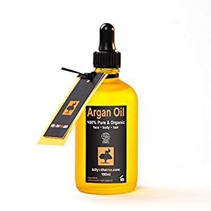 Pure Argan Oil. 100% Organic. 100ml. For Face Body Hair Nails