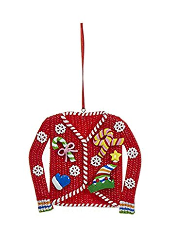 Ugly Christmas Sweater Ornament (Red)