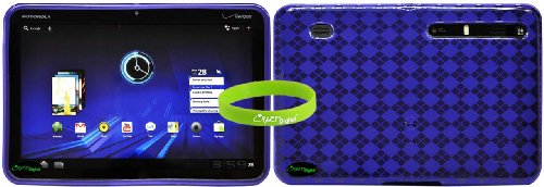 CrazyOnDigital Purple Soft Gel TPU Skin Case for the Motorola Xoom Android Tablet