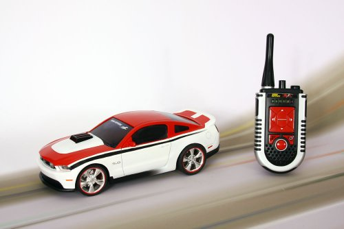 R/c Red & White Mustand Lights Sound Full Function Plays Drive My Car !