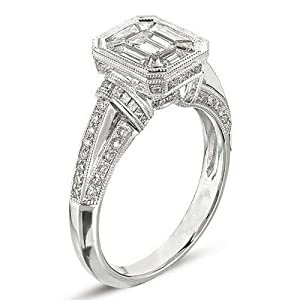 14k 1.41 Dwt Diamond White Gold M.pave Ring - JewelryWeb