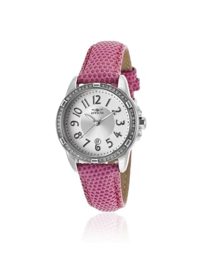 Invicta Women's 16339 Angel Pink/Silver-Tone Leather Watch As You See