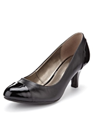 Footglove™ Leather Toe Cap Wide Fit Court Shoes