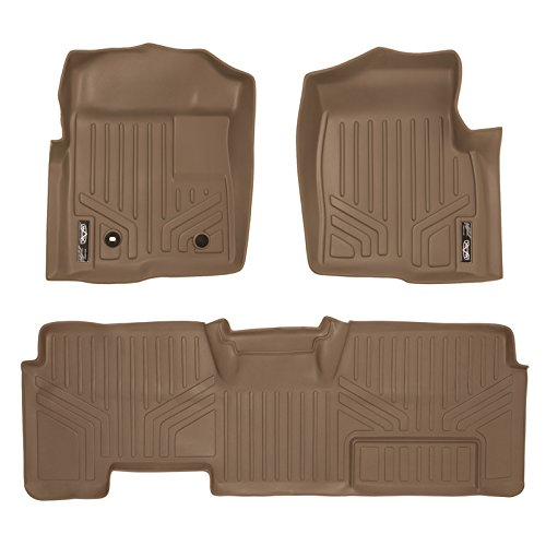 MAXFLOORMAT Floor Mats for Ford F-150 SuperCab Non Flow Center Console (2009-2010) Complete Set (Tan) (2010 F150 Center Console compare prices)