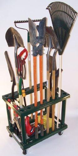 Tool storage free standing garden tool storage rack for Gardening tools storage