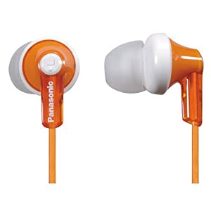 Panasonic RPHJE120D In-Ear Headphone, Orange