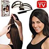 Allstar BIO21712 Bumpits Hair Volumizing Inserts- Dark Brown/Black