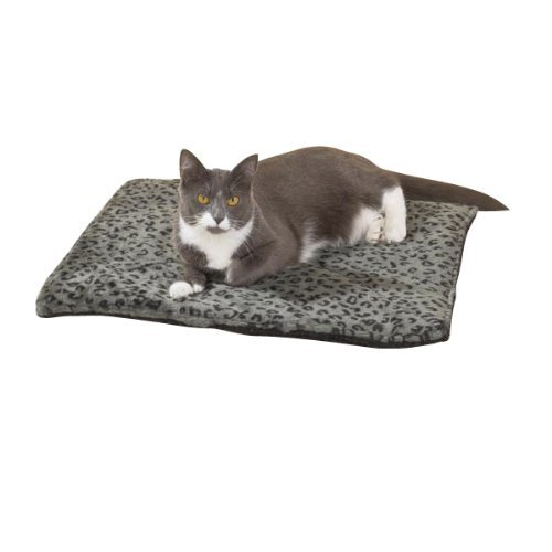 Purrfect Thermal Cat Mat Leapord Prints (Gray Leopard)