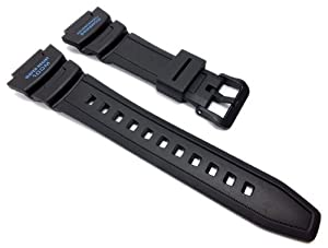 Casio watch strap watchband Resin Band black for SGW-500H-2 SGW-500H