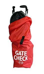 JL Childress Gate Check Bag for Umbrella Strollers, Red