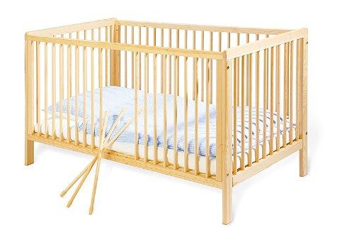 Pinolino-111038-Kinderbett-Hanna-140-x-70-cm-mit-3-Schlupfsprossen-aus-vollmassiver-Buche