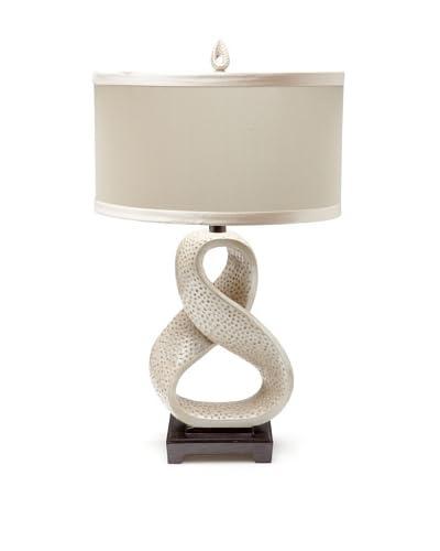 Horizons Blanca Table Lamp, Metallic Pearl