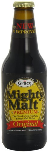 Grace Mighty Malt The Classic Non Alcoholic Energy Drink 330 ml (Pack of 24)