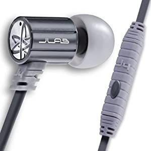 JLab JBuds J4M Heavy Bass Metal In-Ear Earbuds Style Headphones with Travel Case  (Gun Metal)