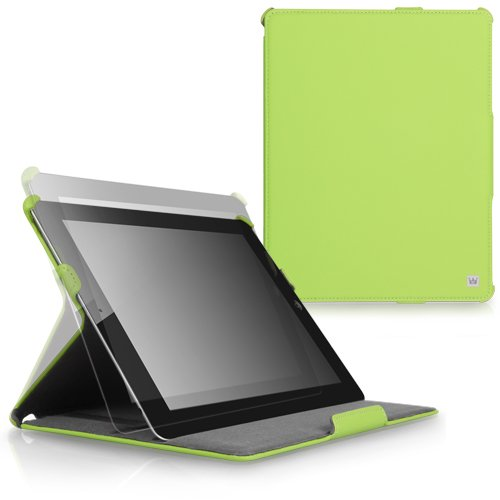 CaseCrown Ace Flip Case (Green) for iPad 4th Generation with Retina Display, iPad 3 & iPad 2 (Built-in magnet for sleep / wake feature)
