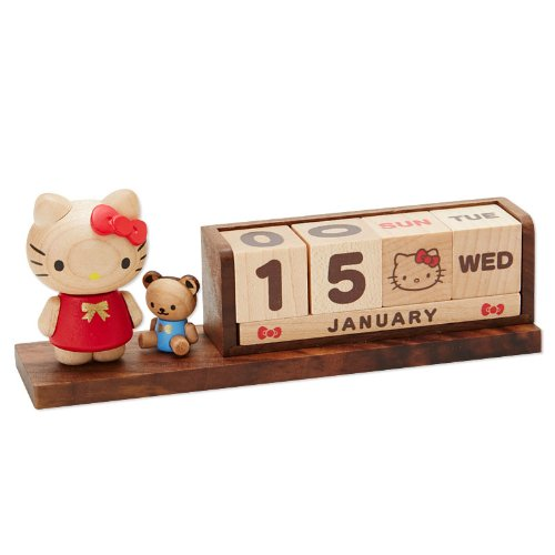 Hello Kitty wooden perpetual calendars.