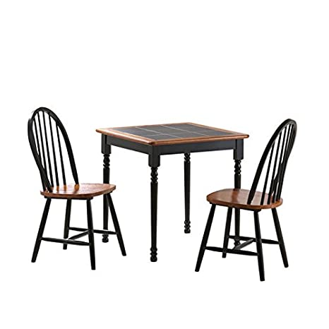 Boraam 3 Piece Tile Top Dining Table Set